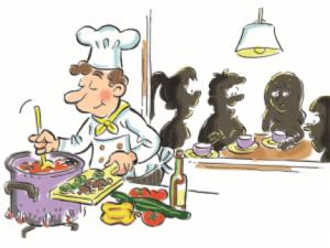 Kok aan het koken